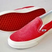 Vans Classics SLIP-ON (Washed) Hot Coral 【Vans】メンズUS5.5/レディースUS7