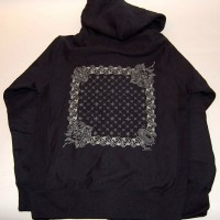 BANDANA ZIP HOOD【ADDICTION】BLACK