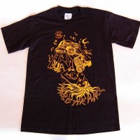 4Q BROOKLYN TATTOO S/S TEE【4Q CONDITIONING】(BLK/YEL)