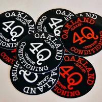 """4Q """"LOGO"""" ステッカー【4Q CONDITIONING】(2枚セット)"""