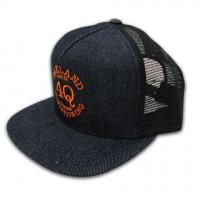 "4Q ""LOGO"" メッシュキャップ 【4Q CONDITIONING】(INDIGO/ORANGE)"