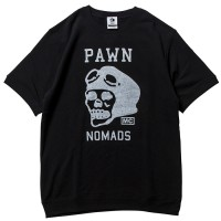 LOGO S/S CREW NECK【PAWN】BLACK