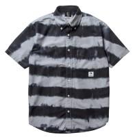 PAWN TIE DYE PRISONER S/S SHIRT7305(半袖シャツ)  【PAWN】GRAY