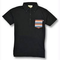 RAINBOW SERAPE POLO SHIRTS【OG CLASSIX】BLACK