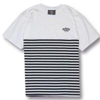 BORDERS LINE TEE【OG CLASSIX】WHITE-BLACK