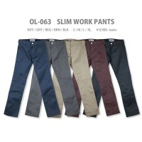 WORK PANTS SLIM【BLUCO ブルコ】OL-063