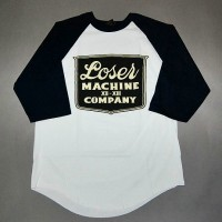 BANQUET RAGLAN[LOSER MACHINE]WHITE/NAVY