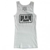 TRADEMARK WOMENS TANK TOP【DEATH SQUAD】WHITE