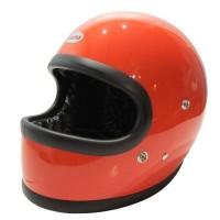 <WNDRZ>Beetle STR FULL FACE HELMET【OCEAN BEETLE】オレンジ/黒革ダブルストラップ