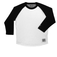 RAGLAN 3/4 SLEEVE SHIRTS【BLUCO】BLACK