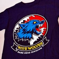 WAVE WOLVES Ⅱ S/S TEE【DARK SEAS】NAVY