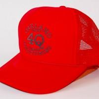 "4Q ""LOGO"" メッシュキャップ 【4Q CONDITIONING】RED"