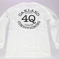4Q LOGO L/S TEE【4Q CONDITIONING】WHITE