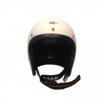Beetle500-TX JET HELMET【OCEAN BEETLE】アイボリー/黒革ダブルストラップ