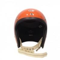 Beetle500-TX JET HELMET【OCEAN BEETLE】オレンジ/白革ダブルストラップ