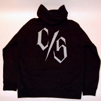 C/S LOGO ZIP HOOD【C/S PROJECT】BLACK×GRAY LOGO