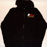 CZ SKULL ZIP HOOD 【CYCLE ZOMBIES】 BLACK