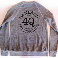 "4Q ""LOGO"" CREW NECK【4Q CONDITIONING】GRAY"