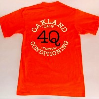 4Q LOGO POCKET S/S【4Q CONDITIONING】ORANGE