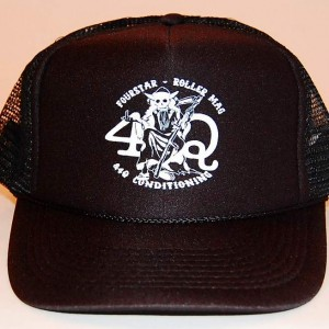 4qroller-truckerhat-black