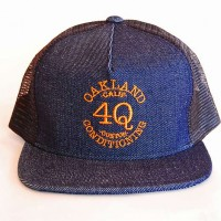 "4Q ""LOGO"" メッシュキャップ 【4Q CONDITIONING】BLUE DENIM"