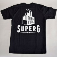 DOING WORK S/S TEE【SUPER Co.】BLACK