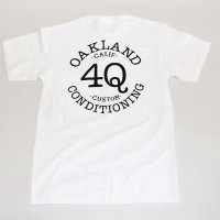 "4Q ""LOGO"" POCKET S/S TEE【4Q CONDITIONING】WHITE"