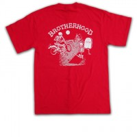 """BROTHERHOOD"" S/S Tシャツ【4Q CONDITIONING】RED"