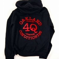 4Q LOGO プルオーバーフード (BLACK/RED) 【4Q CONDITIONING】BLACK