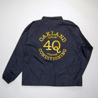 "4Q ""LOGO""コーチジャケット【4Q CONDITIONING】BLACK/YELLOW"