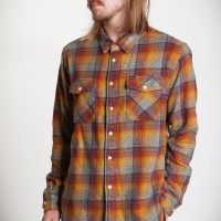 CARFIELD W PRINT WOVENS【LOSER  MACHINE】RED/GOLD