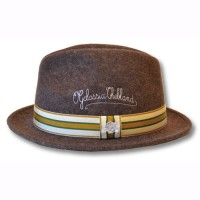 CROWN WOOL HAT【ウールハット】【刺繍】【OG CLASSIX】BROWN