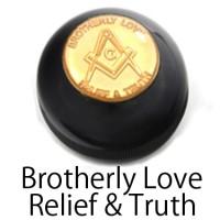 Freemasonry ロゴシフトノブ