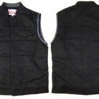 Black Magic Denim Vest【 LIL JOES LEGENDARY LEATHERS】BLACK