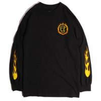 サイクルゾンビーズ FLAMEBOY L/S T-SHIRT【CycleZombies】BLACK