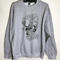 Frying Mickey Sweat 【A-Rahoo Motorcycles】GRAY